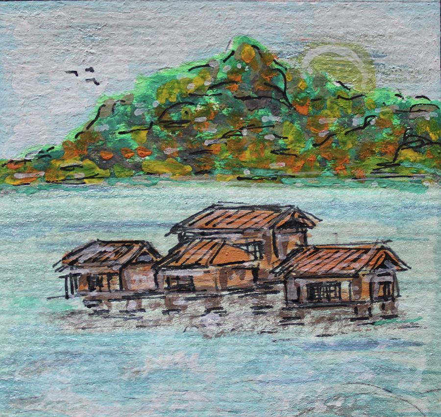 Watercolor Painting - Fiji by Art By Naturallic