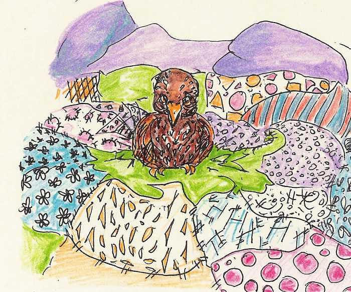 Whirlybird Drawing - Filamena The Queen Of Stitches by Patience Tumblesome