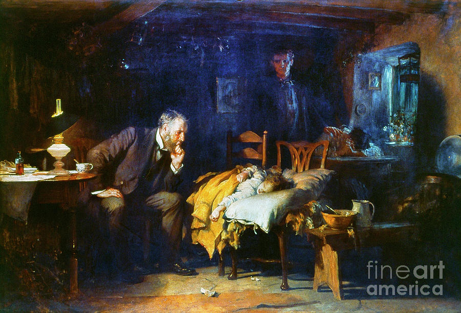 1891 Painting - The Doctor, 1891 by Sir Luke Fildes