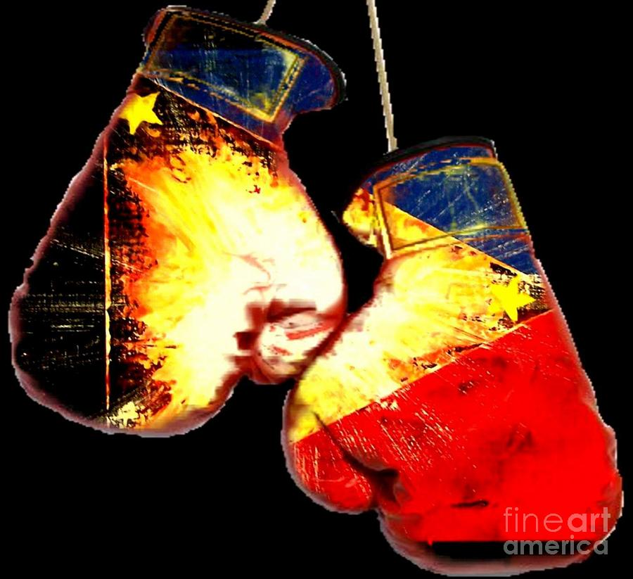 Manny Painting - Filipino Boxer by Teo Alfonso