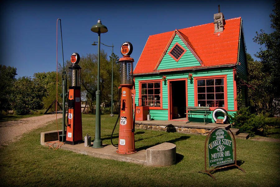 Phillips 66 Photograph - Fill er Up by Patricia Montgomery