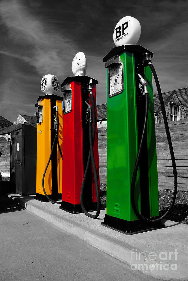 Gas Pumps Photograph - Fill Her Up by Rob Hawkins