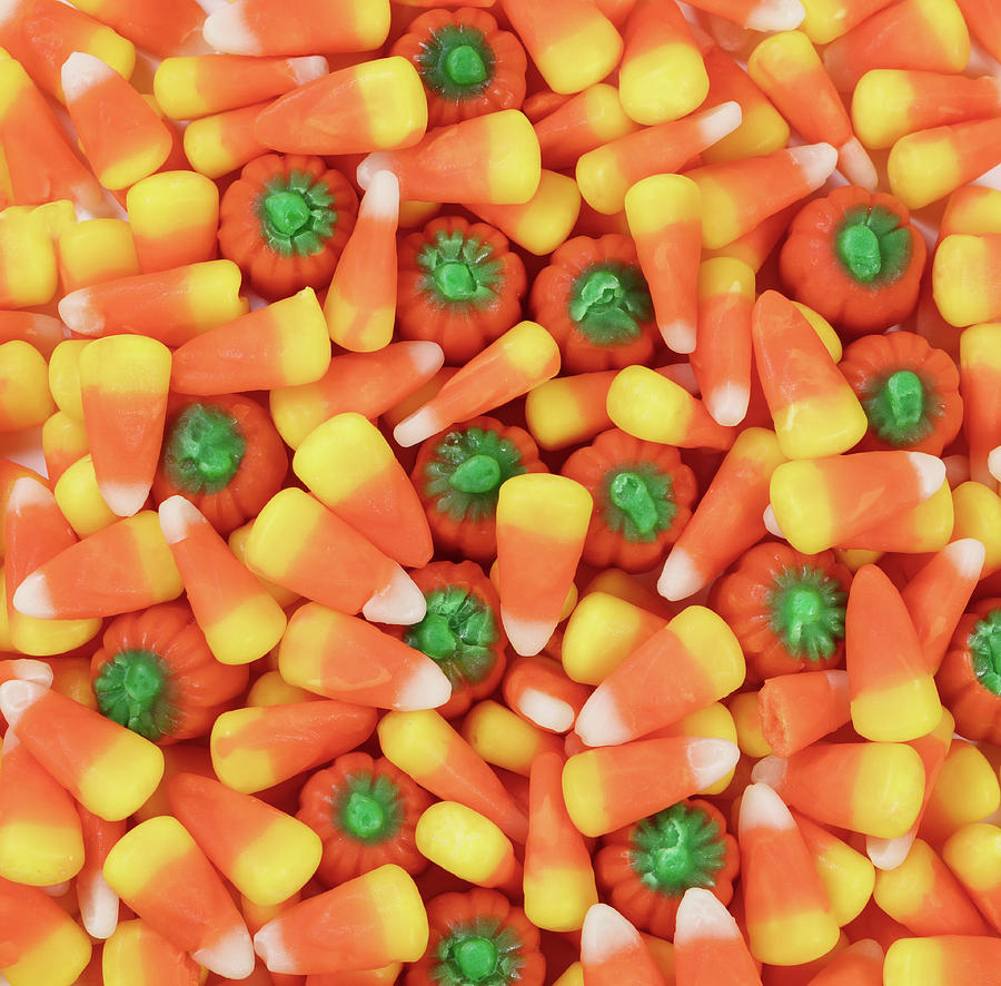 halloween photograph filled frame of halloween candy treats by thomas baker