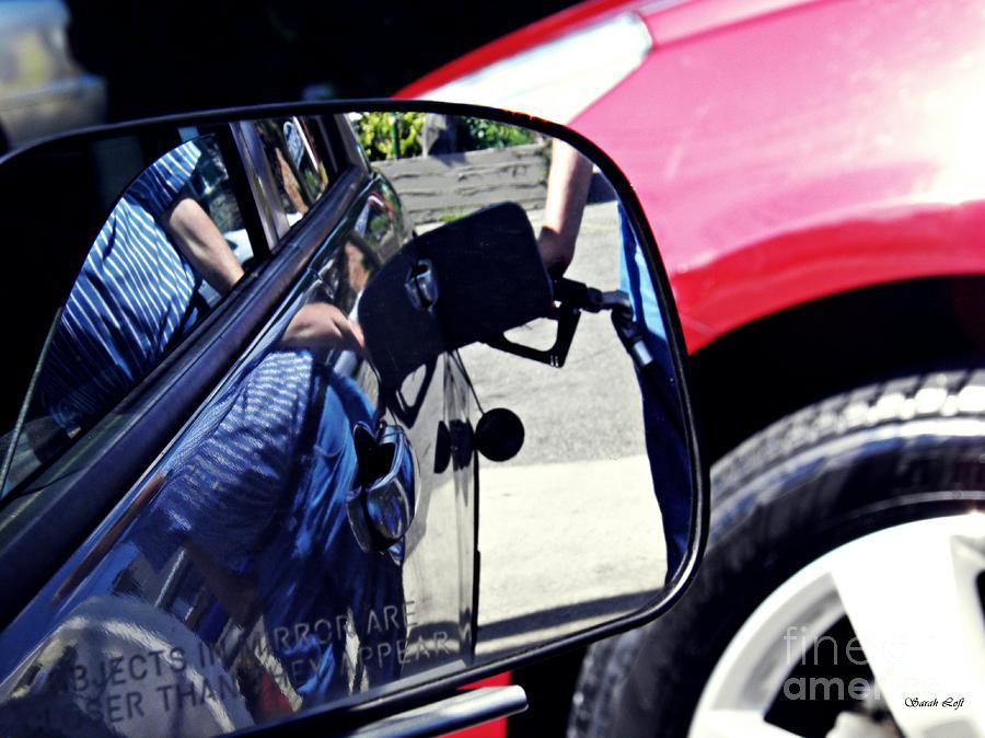 Car Photograph - Filler Up by Sarah Loft