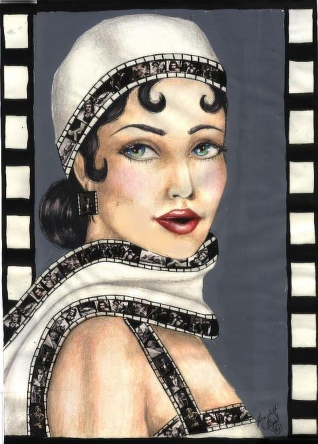 Portrait Drawing - Film 2 by Scarlett Royal