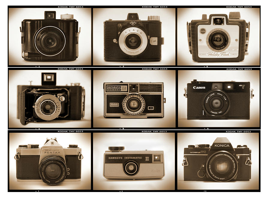 Vintage Cameras Photograph - Film Camera Proofs 1 by Mike McGlothlen
