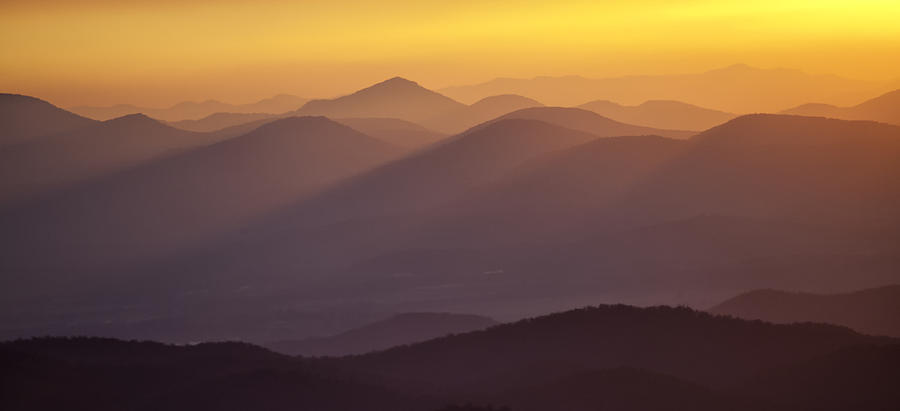 Black Balsam Photograph - Filtered Light On The Blue Ridge Parkway by Rob Travis