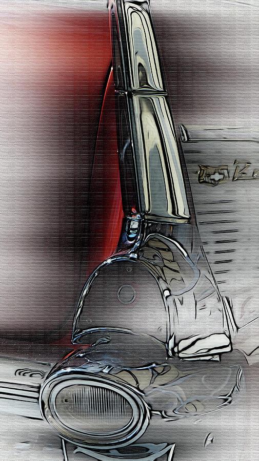 Auto Digital Art - Fin by Elijah Knight