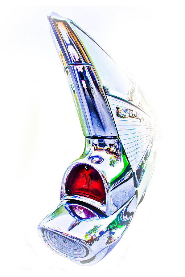 57 Chevy Photograph - Fin by Michael Gass