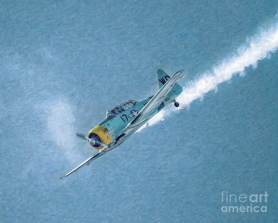 Airplane Photograph - Final Dive World War Two Airplane  by Randy Steele