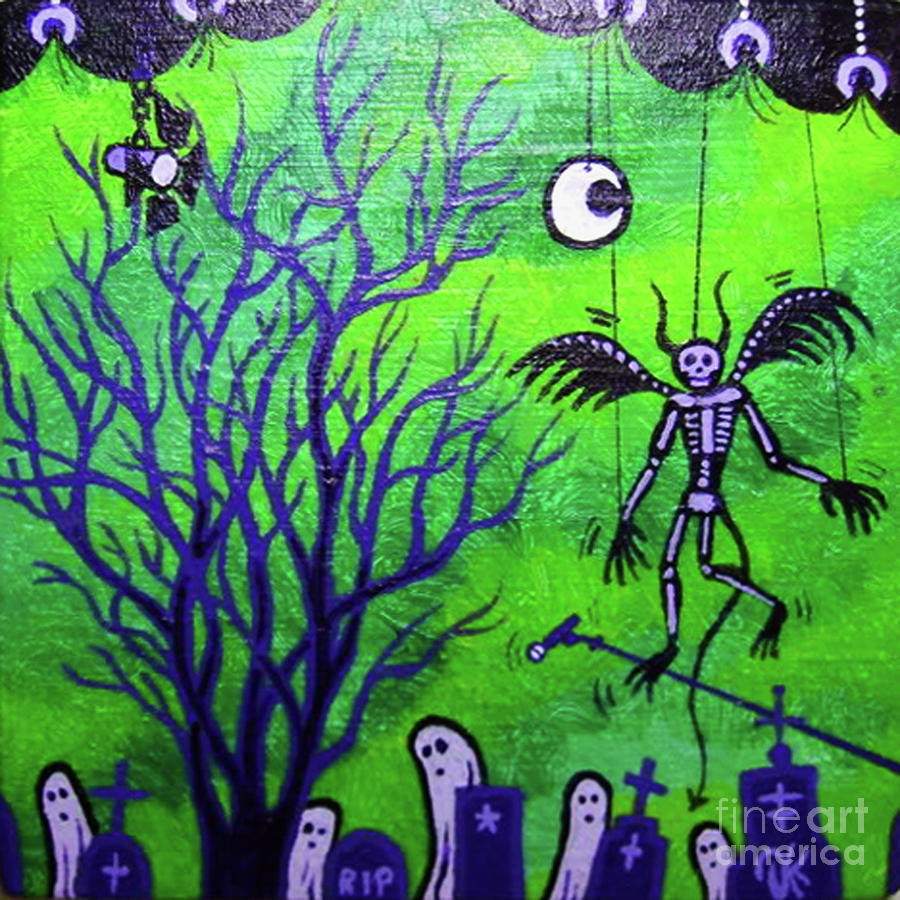 Cemetery Painting - Final Performance by Dan Keough