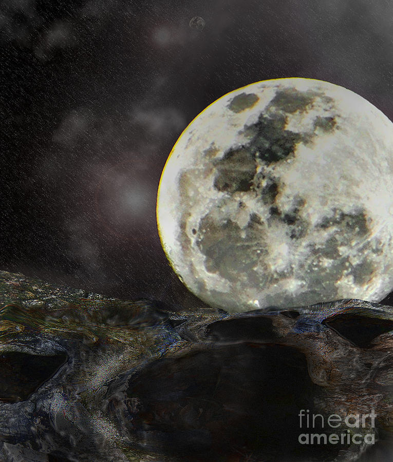Moon Digital Art - Final Standoff by Joe Russell