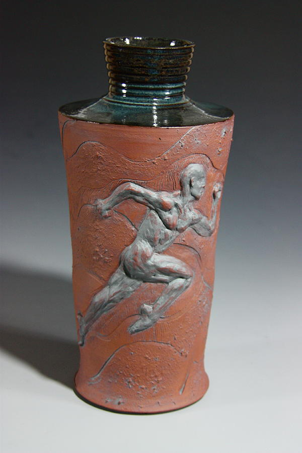 Female Nude Relief - Final Stretch by Dan Earle