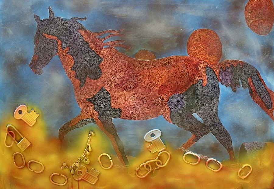 Horse Painting - Finalmente Libero Da Catene by STELVIO GAMBARDELLA e G M ZAGO