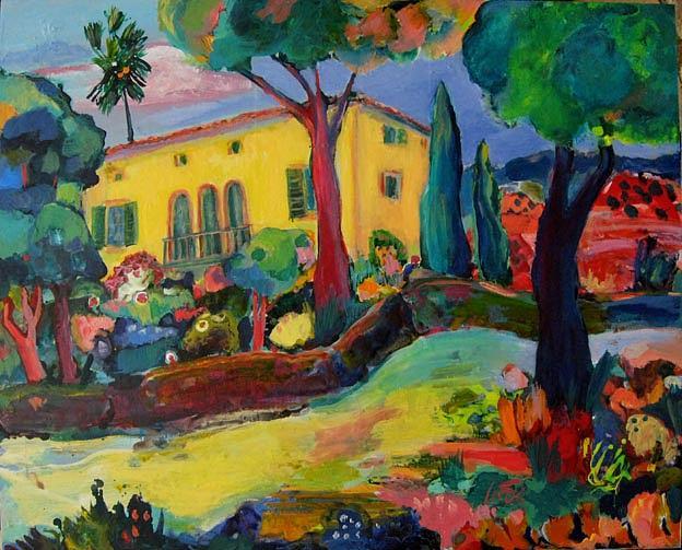 Landscape Painting - Finca Near Bunyola by maria Antonia cerda