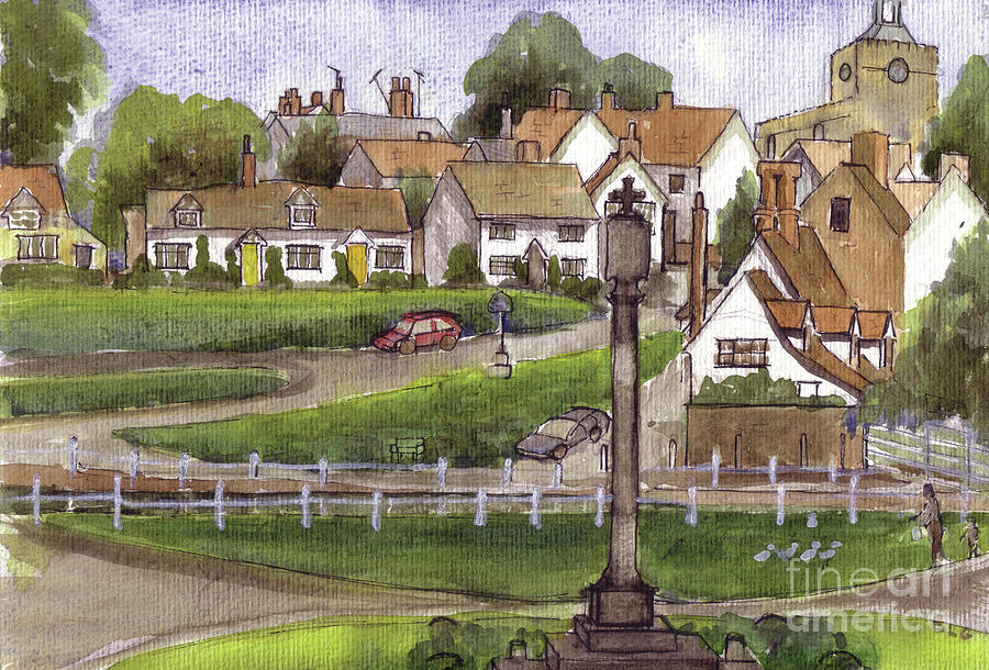 Finchingfield Painting - Finchingfield Essex Uk by Dianne Green