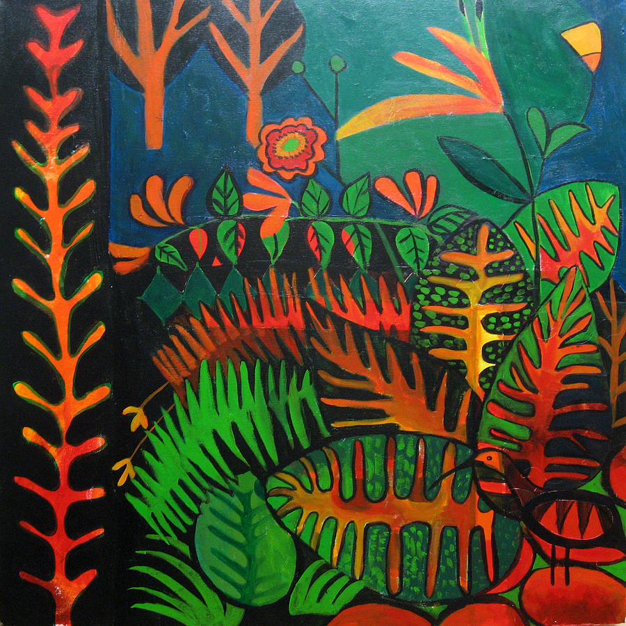 Jungle Painting - Find Me If You Can by Aliza Souleyeva-Alexander