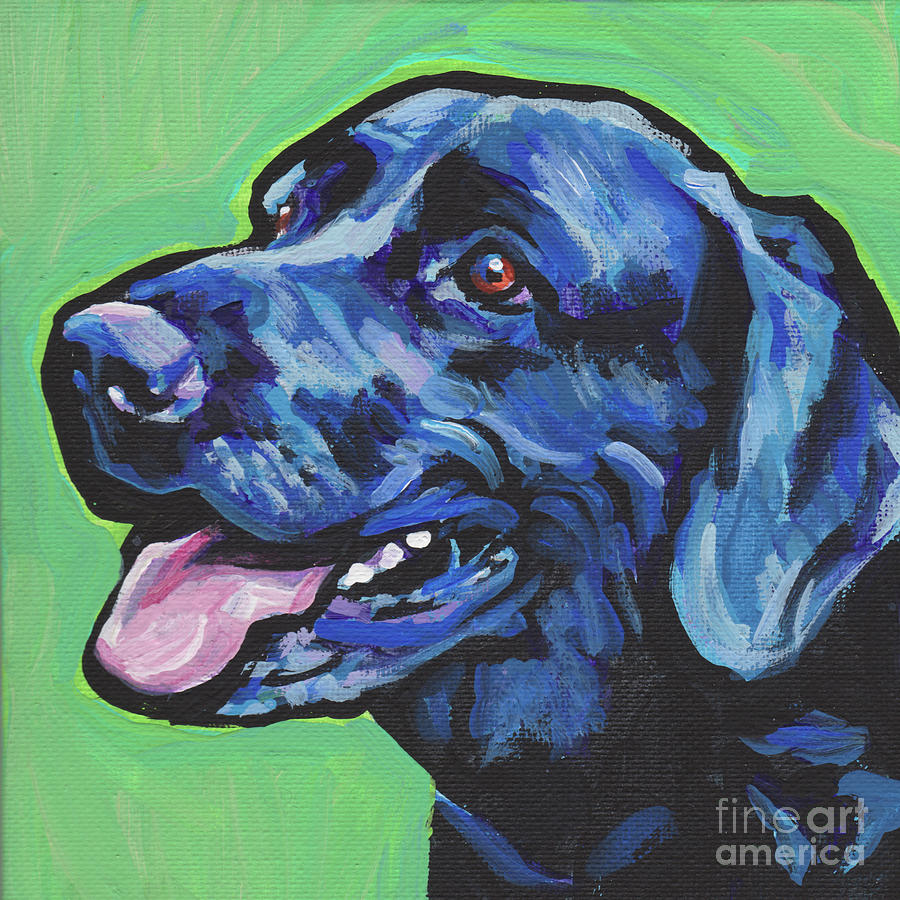 Labrador Retriever Painting - Find Me In The Lab by Lea