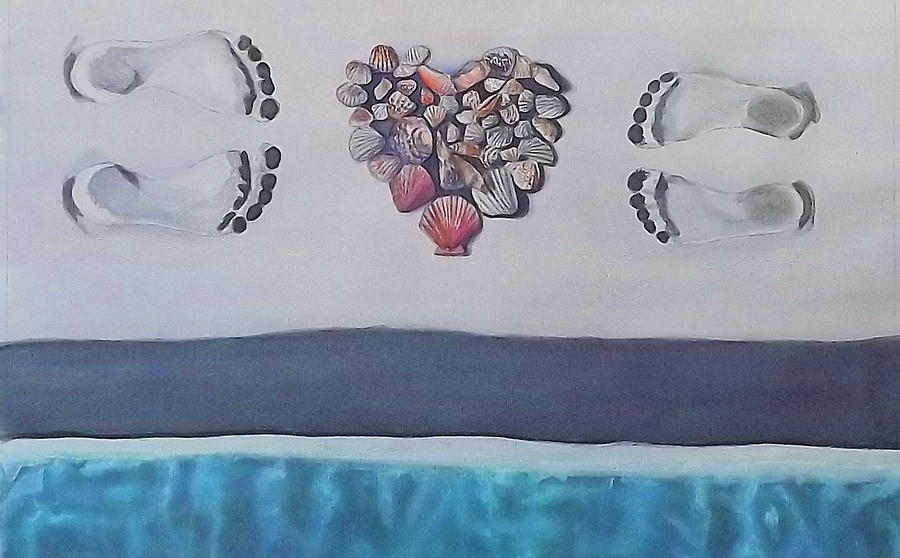 Beach Painting - Finding Love On The Beach by Cory Clifford