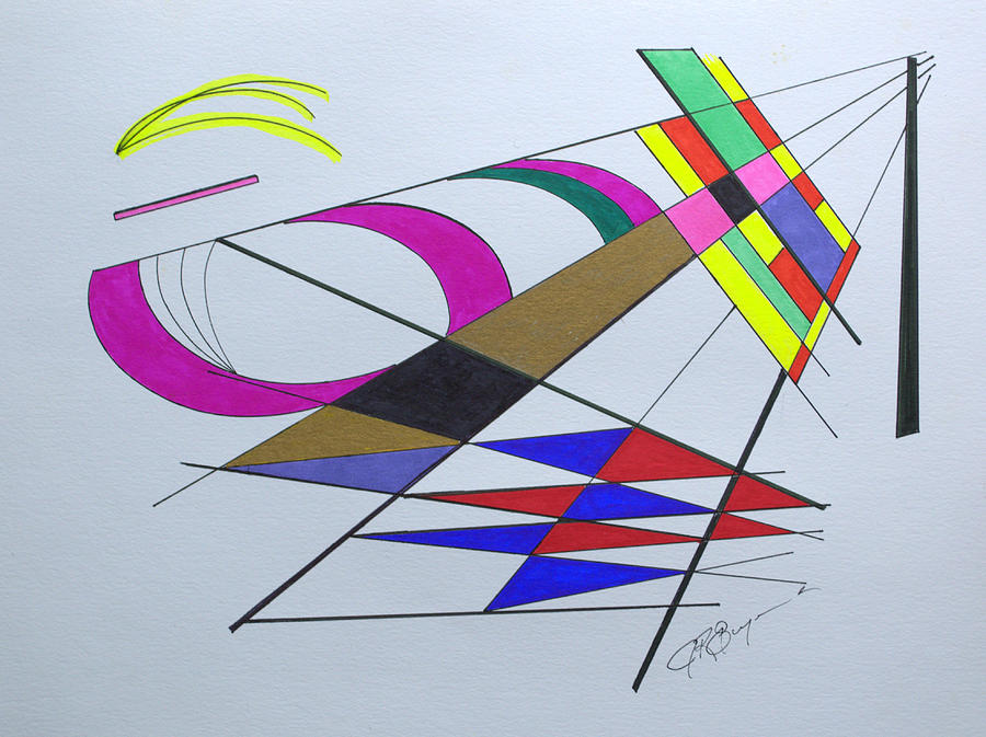 Abstract Drawing - Finding Serendipity by J R Seymour
