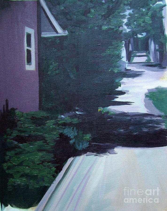 House Painting - Findley Alley by Vanda Sucheston Hughes