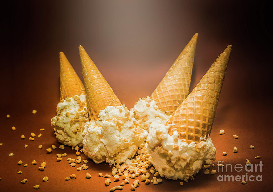 Summer Photograph - Fine Art Ice Cream Cone Spill by Jorgo Photography - Wall Art Gallery