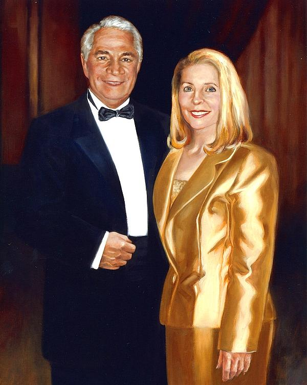 Married Couple Painting - Fine Art Oil Portrait Of A Couple by Mark Sanislo