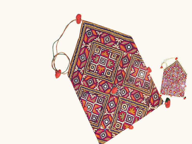 Fine Mirror Work Tapestry - Textile by Santosh Rathi