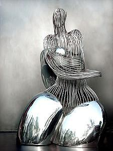 Sculpture Sculpture - Fine Rhyme In Stainless Stell  by Tao Liu