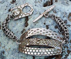 Bracelet Jewelry - Fine Silver Three In One Bracelet by Mirinda Kossoff