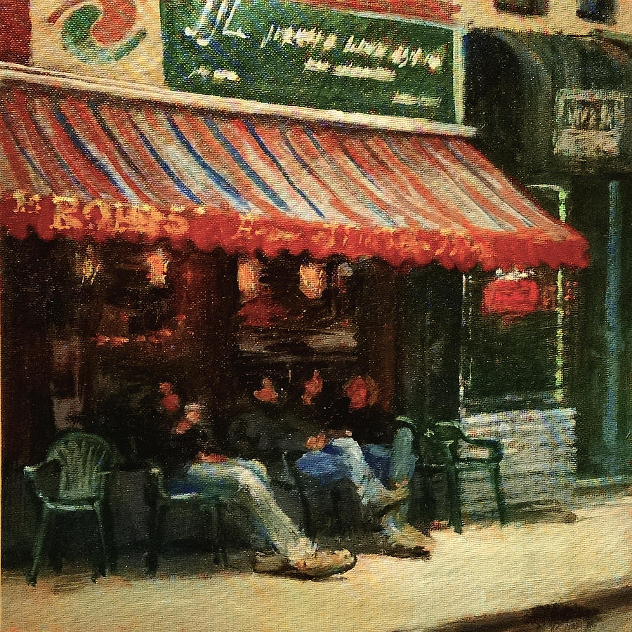 New York Painting - Fine Teas And Coffees by Peter Salwen