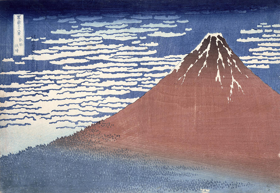 Fine Painting - Fine Weather With South Wind by Hokusai