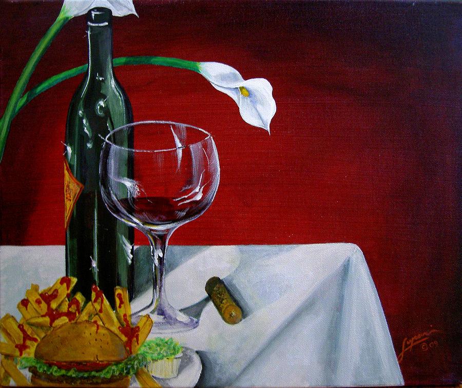 Wine Painting - Fine Wine by Thomas Lupari