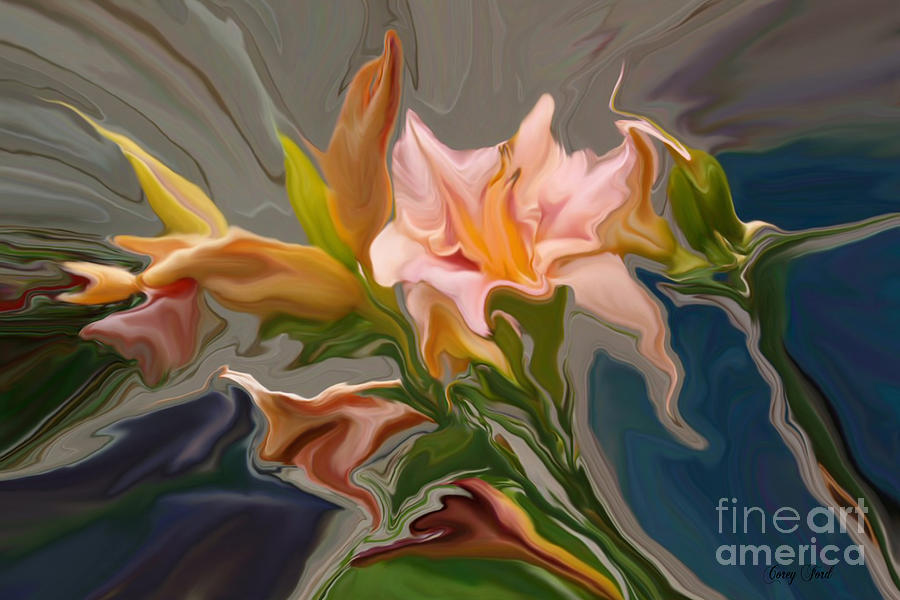 Iris Painting - Finery by Corey Ford