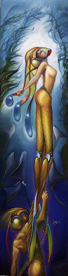 Aquatic Painting - Finfaerian Odyssey by Patrick Anthony Pierson