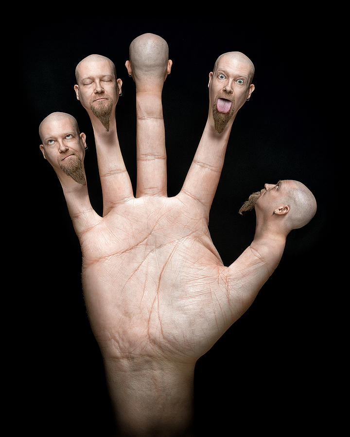 Hand Photograph - Finger Puppets by Petri Damsten