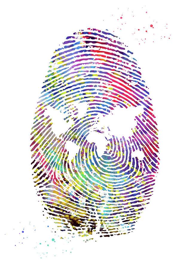 Fingerprint Digital Art by Erzebet S