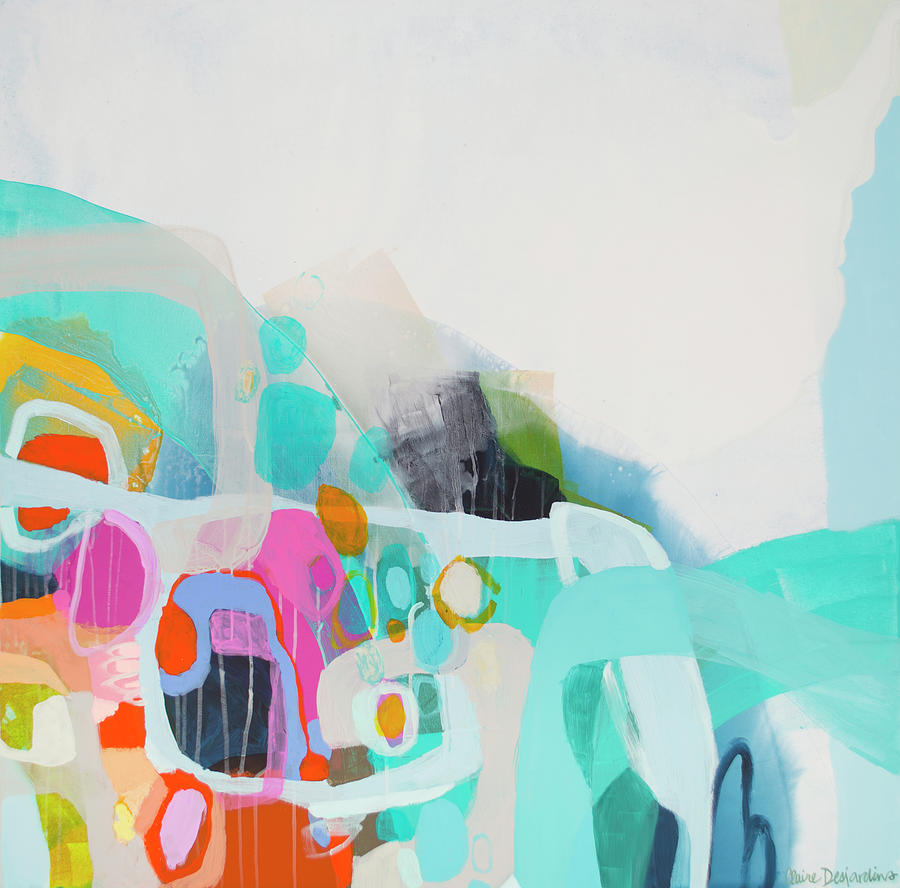 Abstract Painting - Fingers Crossed by Claire Desjardins