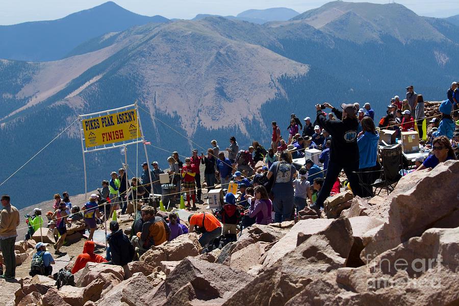 Finish Line At Pikes Peak Marathon And Ascent Photograph