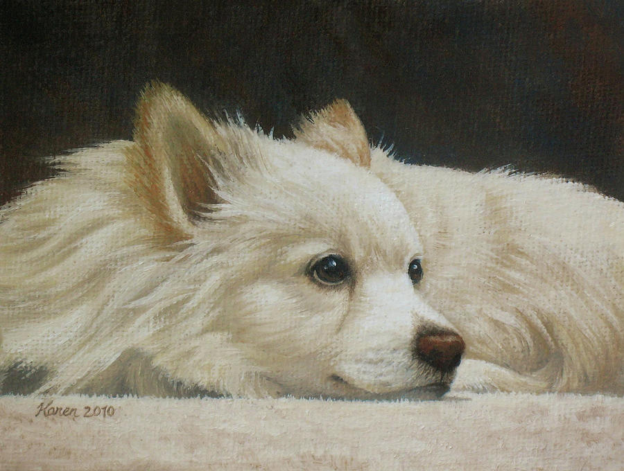 Dog Painting - Finley by Karen Coombes