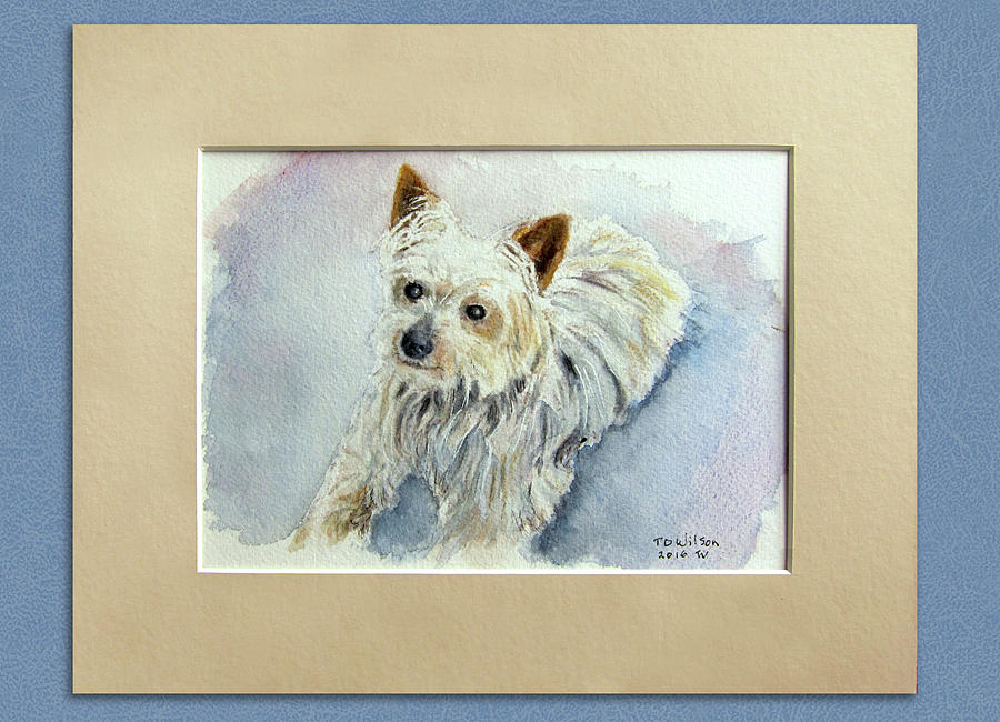Dog Painting - Finley by TD Wilson