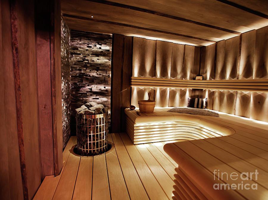 Sauna Photograph - Finnish Sauna by Kati Finell
