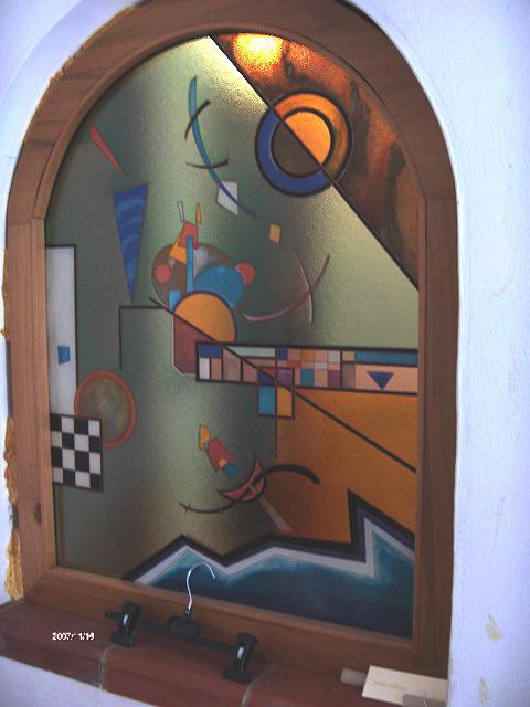 Paintings Glass Art - Finsetra In Vetro by Morena Di Pressa