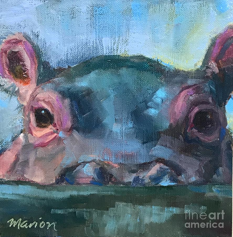 Hippo Painting - Fionahippo by Marion Corbin Mayer