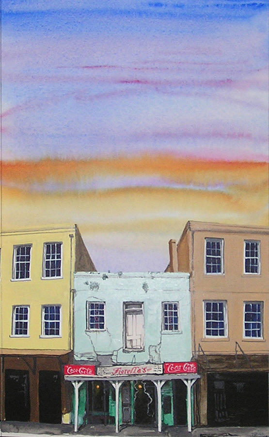 Street Scene Painting - Fiorellas by Tom Hefko