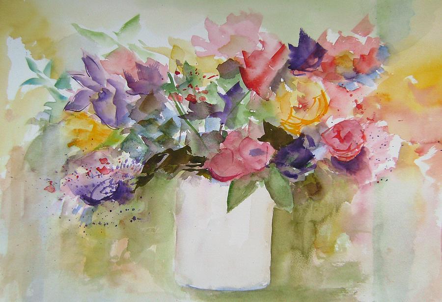 Flowers Painting - Fiori by Gilberte Vermeulen