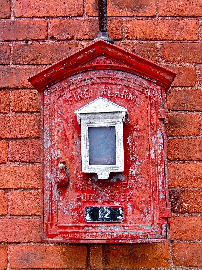 Fire Box Photograph - Fire Alarm Box No. 12 by Richard Mansfield