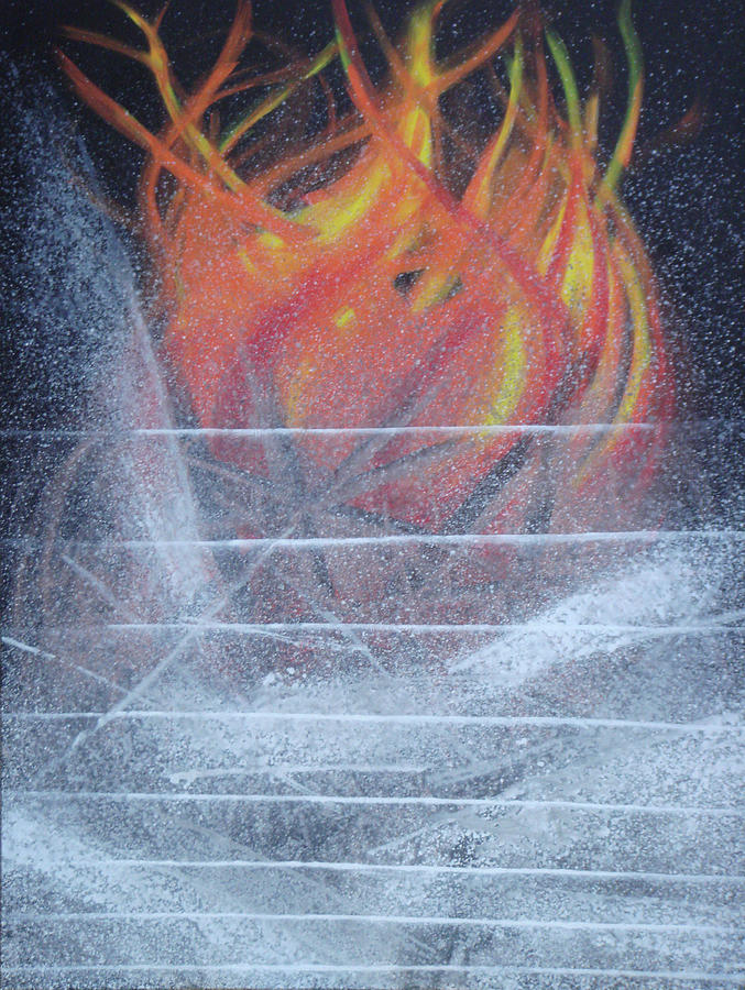 Abstract Painting - Fire And Ash Of My Death by Sagar Talekar