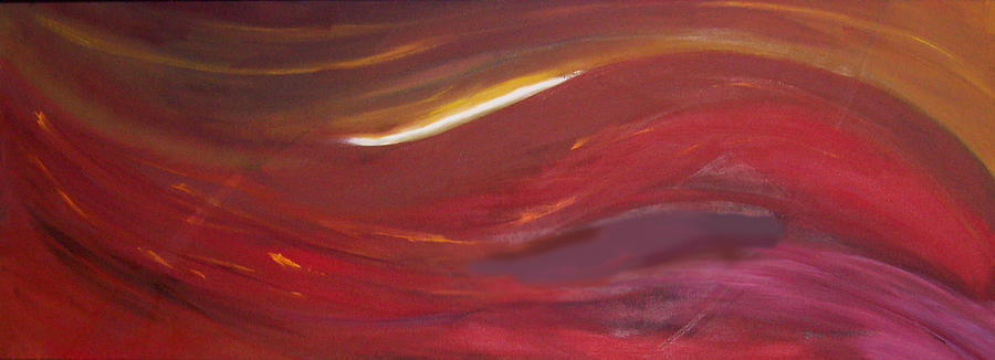 Abstract Painting - Fire And Ice by Anne Trotter Hodge