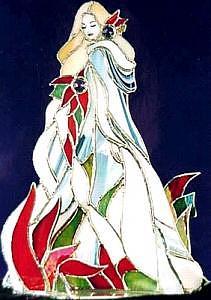 Woman Glass Art - Fire  And Ice by Karen Ichino